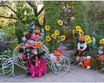 Magical Autumn Garden Party - 5 Postcard Set