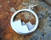 Mountain Range Sterling Silver Charm - Mountains Necklace