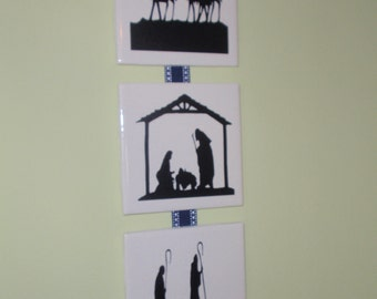 Nativity vinyl decal - small nativity set - VINYL ONLY
