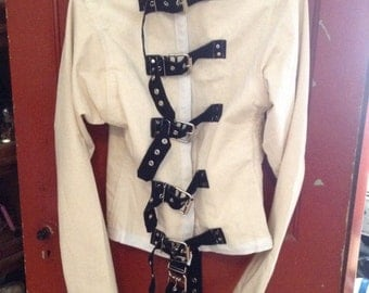 Canvas and leather authentic straitjacket