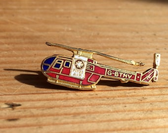 Vintage Helicopter First Air enamel pin
