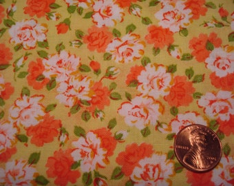 QUARTER YARD vintage fabric FLORAL tiny print doll dress making quilt quilting quilter