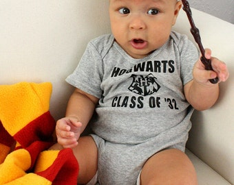 Hogwarts Class of ONESIE ONLY in white and black