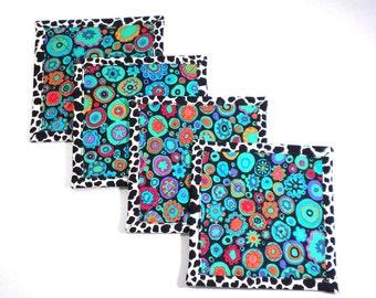 Millefiori  Fabric Coaster Set,  Kaffe Fassett