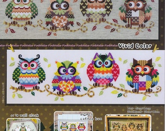 The Owl Family - G56 - Counted Cross Stitch Original Design Pattern Chart