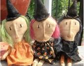 PreHalloweenSale Primitive Halloween Witches of Eastwick-