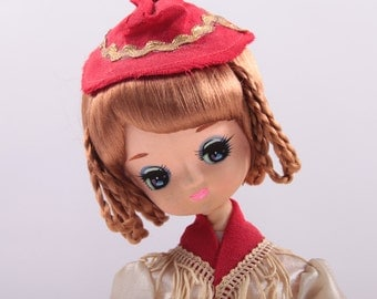 Gorgeous 1960's Austria Bradley Doll With Braids - Cute - Musical ~ The Pink Room ~ 160906