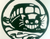 CatBus My Neighbor Totoro inspired  vinyl sticker decal car window sticker