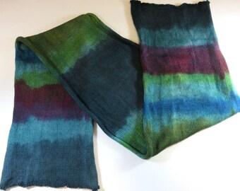 SALE 20% Off -- Hand Painted Sock Blank (Superwash Merino/Nylon 4-ply Sock Fingering Yarn) -- The Happy Wanderer -- Green