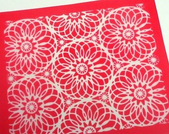 Mandala Silkscreen for Polymer clay, Paper Crafts, painted patterns on smooth surfaces