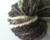 Grey Skies, Touch of Clearing. Horned Dorset sheep wool fleece fiber handspun natural yarn hank knitting crochet white