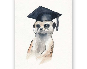 Meerkat Graduation Card