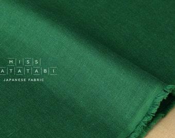 Japanese Fabric - Kobayashi solid double gauze - green - 50cm
