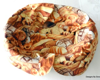Basket Liner, Table Topper, Centerpiece, Bread Cloth, Different Breads and Dinner Rolls, Handmade Table Linens