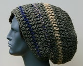 Matting your dreads with a rough wool tam Crochet beanie hat long wool Hippie Dread Tam hat slouchy Beanie Hat Dreadlock rasta hat men women