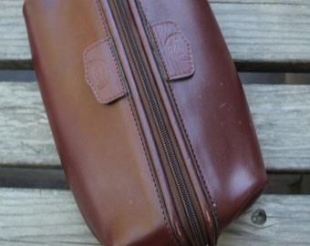 VINTAGE Mens travel case / Dopp Kit