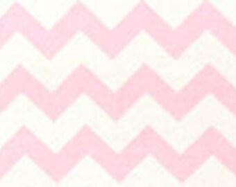Handmade Pink White Chevron Fitted Crib Sheet