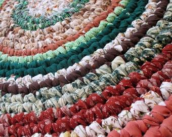 Rustic Home Decor - Rustic Rag Rug - Crochet Rag Rug - Handmade Rag Rugs - Country Home Decor - Reversible Rag Rug - Green Living - Throw