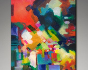 Giclee print from my original abstract painting Unfolding, 30x40