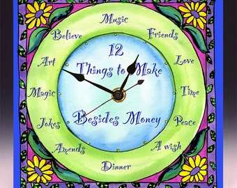 12 Things to Make Besides Money Clock