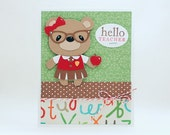 Hello Teacher, Cute Teacher Card, Teacher Thank You Card, End of School Year Card