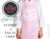 SALE lettuce turnip the beet ® trademark brand official site - cotton kid apron - made in USA