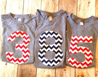 Black Chevron Biggie Number 1st Birthday Shirt for Boy or Girl one Chevron Number Birthday T Shirt  triblend grey Birthday Shirts