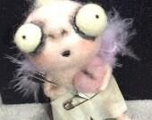 Cupid Ooak  art doll ornament  hand needle felted