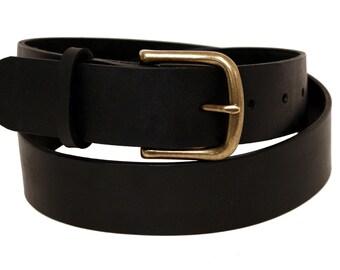 Latigo Leather Belt - Black or Burgundy