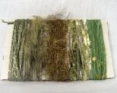 Yarn Bundle Green Scrap Yarn Art Fiber Supplies 1303