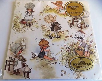 Vintage American Greetings Gift Wrap Scrapbooking Decopouge Altered Art Collage