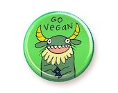 Go Vegan - button