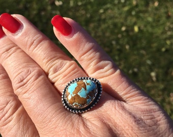 JUMA Jewelry - Natural Pilot Turquoise  Ring - From My Bench Metals