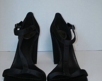 SALE 90's heels sandals shoes, Womens size 6.5 US, Black Esprit 90s high heels