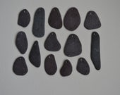 Smooth Flat Drilled Beach Sea Slate 14 pieces DSL2