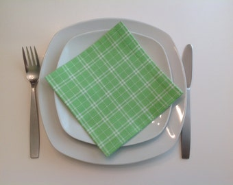 Lunch Dinner Napkins Mint Green Eco Friendly Cotton Lunch Napkins - set of 4