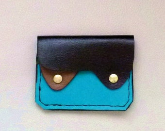Small Leather Wallet ,Coin Purse, Card Case, Minimalist Leather Wallet, Flat Leather wallet