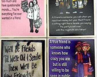 Photo Coasters - Funny Friends Memes - Set of 4