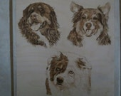 Reserved listing on 6 x 6 wood burn art panel pet memorial by Shannon Ivins