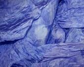 BLUE HYDRANGEA in  Hand Dyed Habotoi Silk  for Nuno Felting