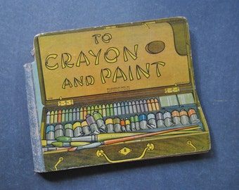 vintage to crayon and paint book, mcloughlin bros inc