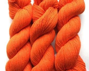 Orange cotton yarn - destash - cotton yarn - Free shipping