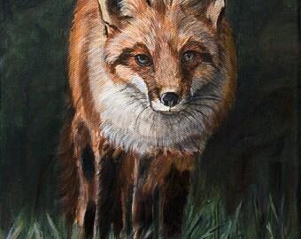 Fox Art Print, Farmhouse Wall Decor, Woodland Animals, Wildlife Art Animal Art Print, Forest Animals, Wildlife Decor, matted prints option
