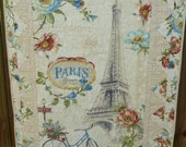Paris Forever Quilt Blanket Throw Wall Hanging