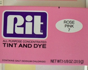Vintage / Rit (R) All Purpose Concentrated Tint & Dye / Rose Pink 7