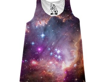 Women's Under the Wings Galaxy Print Tank Top Available Sizes XS-2XL