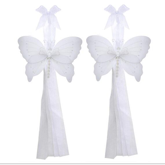Butterfly Tie Backs White Nylon Butterflies Tieback Decor