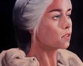 Daenerys Targaryen, Mother Of Falcor art print by Jason Wright