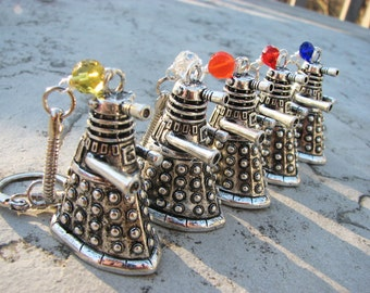 Doctor Who Dalek Keychain/Keyring - Exterminate? Carburate!