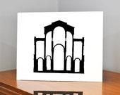 Architecture Papercut, Notre Dam Du Port, 11x14 or 8x10 Original hand-cut paper art